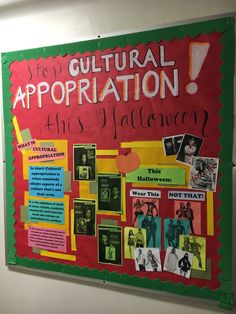 October RA Cultural Appropriation Halloween board for Resident Assistants and Bulletin Board programs