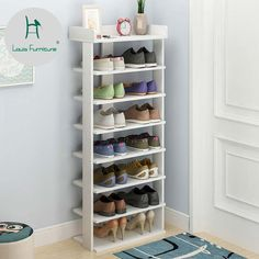 Shoe storage small space Online Shop Louis Fashion Shoe Cabinets Simple Household Dust-proof Multi-s Shoe Rack Table, Diy Shoe Rack, Shoe Storage Cabinet, Shoe Storage Small, Wooden Shoe Storage, Rack Design, Storage Design, Shoe Rack Living Room, Home Decor Furniture