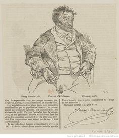 Portrait d'Hoffmann : [estampe] / Henry Monnier, del. ; Allanson, sculp.