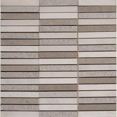 MS International Linea 12 in. x 12 in. x 10 mm Mixed Finish Stone Blend Mesh-Mounted Mosaic Tile-LINEA-MF10MM - The Home Depot