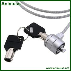 USB anti theft notebook laptop computer security Lock cable chain with keys