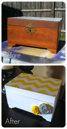 Goodwill jewelry box. Upcycling for the win :-) diy-todo