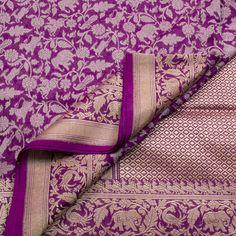 Shivangi Kasliwal Handwoven Shikargah Banarasi Katan Silk Sari 1002126 - Sari / All Saris - Parisera