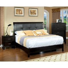 Furniture of America Chester 3-piece Queen-size Bed with Nightstand and Chest Set - Overstock Shopping - Big Discounts on Furniture of America Bedroom Sets