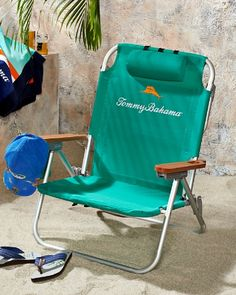Tommy Bahama - Green Deluxe Backpack Beach Chair - $58