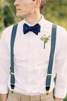 Wedding Styles Velvet bow tie and suspenders. Awesome groomsman style - Elegant Vintage September Wedding photographed by Bryce Covey photography. Wedding Groom, Wedding Suits, Wedding Attire, Boho Wedding, Wedding Vintage, Wedding Ideas, Tweed Wedding, Vintage Style, Copper Wedding