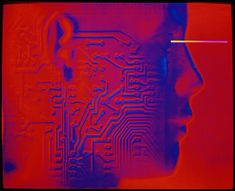 Artificial intelligence: circuit & human head