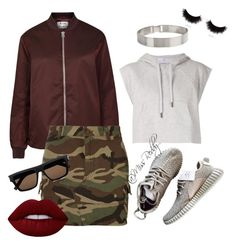 """""""Untitled #131"""" by missreddy on Polyvore featuring adidas, Acne Studios, Yves Saint Laurent, Lele Sadoughi, shu uemura and Lime Crime"""