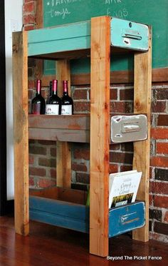 This would be so cute for my craft room! Upcycled Drawer Shelf