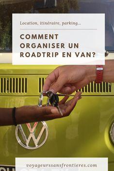 Tout ce qu'il faut savoir pour organiser un roadtrip en van! #vanlife #van #roadtrip #guidedevoyage #conseilsdevoyage #destinationdaventure #voyageencar #vantrip Road Trip France, Station Essence, Organiser, Blog Voyage, Van Life, Travel Tips, Vans, How To Plan, Landscapes