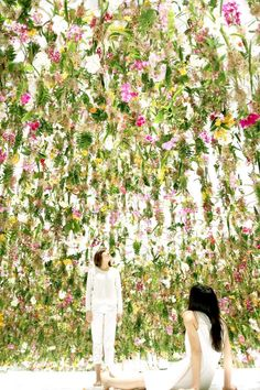 In Tokyo The Beautiful Interactive Floating Flower Garden is an Immersive Floral Installation Made from 2300 Flowers by TeamLab