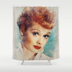 Lucille Ball Shower Curtain Desi Arnaz I Love Lucy Curtains
