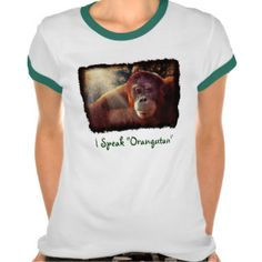 Orangutan Supporter Red Ape Wildlife Art Shirt by Skye Ryan-Evans