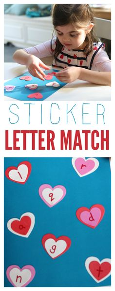 Easy letter match activity for kids using stickers.