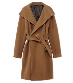 The Row Brushed Twill Tonda Coat - Classic Wool Coat - ShopBAZAAR