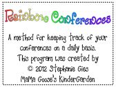 Rainbow Conferences - A System for Organizing Writing/Reading Conferences product from MaMa-Gooses-KinderGarden on TeachersNotebook.com