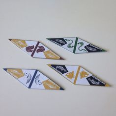 4 Bookmark Harry Potter by BWAAGIRL on Etsy