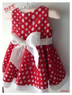 DIY Vestido para niña con gran lazo
