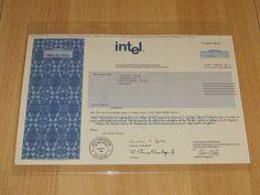 Historische Aktie - Intel 2004 - Original unentwertet Rarität