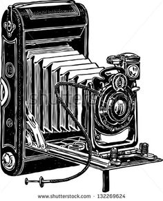 Find Vintage Camera stock images in HD and millions of other royalty-free stock photos, illustrations and vectors in the Shutterstock collection. Fun Illustration, Photography Illustration, Image Photography, Camera Drawing, Camera Art, Vintage Camera Tattoos, Etching Prints, Vintage Cameras, Vintage Movies