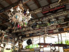 The Hideaway Tiki Bar in Cedar Key, Florida. How cute is this place?!