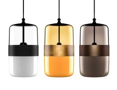 Futura, a new line of pendant lamps in blown glass The collaboration between Hangar Design Group and Vistosi