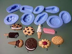 9 silicone molds, cake theme by sweetsandrine on Etsy https://www.etsy.com/listing/190092148/9-silicone-molds-cake-theme