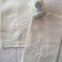 Monogrammed Linen Guest Towel