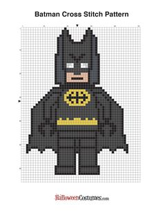 Free Lego Batman Cross Stitch Pattern - Batman