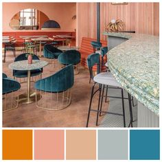 Small Accent Chairs For Living Room Product Kitchen Colour Schemes, Living Room Color Schemes, Floor Colors, House Colors, Orange Painted Rooms, Mediterranean Wall Decor, Color Combinations Home, Conservatory Decor, Orange Color Schemes