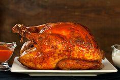 Buffalo Roasted Turkey with Blue Cheese Sauce