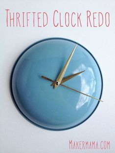 Thrifted Clock Redo   15 Free Recycled Craft Ideas: Beautify Your Space Without Spending a Dime