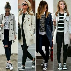 Trench Coat Outfit For Spring - Trench Coat Outfits - Casual Winter Outfits, Spring Outfits, Stylish Outfits, Look Fashion, Autumn Fashion, Lolita Fashion, Sport Fashion, Womens Fashion, Mode Outfits