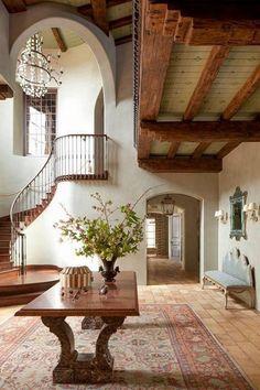 Dream Home Design, My Dream Home, Home Interior Design, House Design, Exterior Design, Adobe House, Spanish Style Homes, Spanish Style Interiors, Spanish Style Decor