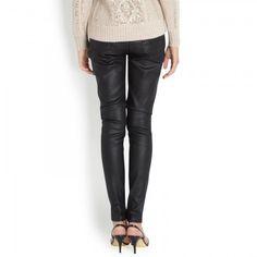 Victoria Beckham black waxed jeans. Victoria Beckham Jeans, Harvey Nichols, Wine Recipes, Leather Pants, Skinny Jeans, Fashion Design, Beauty, Black, Women