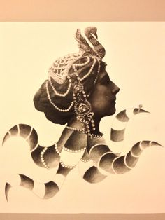 Collage(lady octopus)