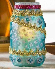 Moroccan Lanterns http://modpodgerocksblog.com/2014/02/18-unique-ways-to-decoupage-mason-jars.html?pid=489&utm_content=buffer8a876&utm_medium=social&utm_source=pinterest.com&utm_campaign=buffer#gallery