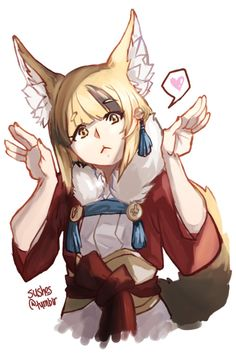 blonde_hair fire_emblem fire_emblem_if kinu_(fire_emblem_if) kitsune simple_background solo Character Inspiration, Character Design, Creatures 3, Fire Emblem Games, Fire Emblem Awakening, Fan Art, Looks Cool, Animal Crossing, Kawaii Anime