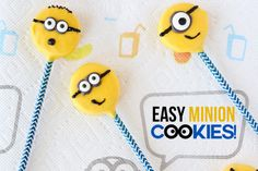 Easy Minions Cookie Pops - so cute!| Love From the Oven