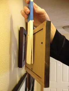 Lots of great ideas including a wooden microwave cover and How to hang pictures perfectly every time.  Super easy!