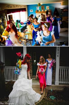 This is a first....Disney bridemaids!! lol