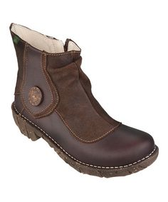 Yummy...will be my next winter boot!!  Take a look at this Brown Button Boot by El Naturalista on #zulily today!