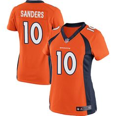 High Quality Women s Elite Emmanuel Sanders Jersey - Denver Broncos  10  Home Orange Nike NFL 7390318ee
