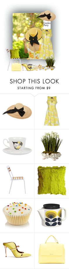 """""""Afternoon Tea"""" by sue-mes ❤ liked on Polyvore featuring Kreisi Couture, Boutique Moschino, Jimbobart, John-Richard, Maurizio Galante, Orla Kiely, Malone Souliers and Orciani"""