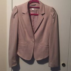 H&M pink/nude blazer Tailored one button blazer. Super cute. Great condition. Stitching detail on lapel and bottom of blazer. H&M Jackets & Coats Blazers