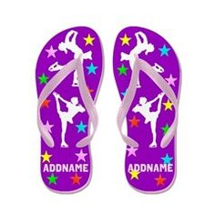 Skater Girl Flip Flops Inspire your lovely Skater with our personalized Figure Skating Tees, Apparel, and Gifts. http://www.cafepress.com/sportsstar/10189550 #Figureskating #Skatergirl #Borntoskate #Lovetoskate #Icequeen