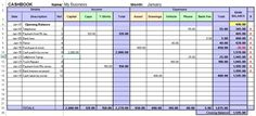 Free excel cash book template for easy bookkeeping to track business income and expenses every month and view reports. Includes examples and a control page to enter account headings. Small Business Bookkeeping, Small Business Accounting, Accounting Basics, Dashboard Design, Business Planning, Business Tips, Business Sales, Business Coaching, Software