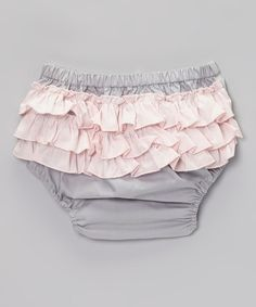 Love this Gray & Light Pink Ruffle Diaper Cover - Infant & Toddler by Born to Love on #zulily! #zulilyfinds