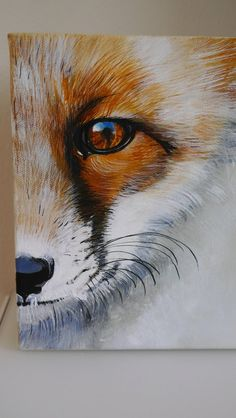 tiere Small acrylic paintingfox animalforestnaturebrownyellowwhitegreyportrait by Beate Fr Acrylic Painting acrylic acrylic painting animalforestnaturebrownyellowwhitegreyportrait Beate paintingfox Small tiere