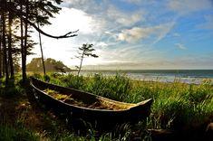 Photographer Of The Month: Guy Kimola, Haida Gwaii, B. Ancient canoe left in place. British Royal Marines, Dugout Canoe, Haida Gwaii, Gold River, Haida Art, Outdoor Photography, Archipelago, Abandoned Places, British Columbia